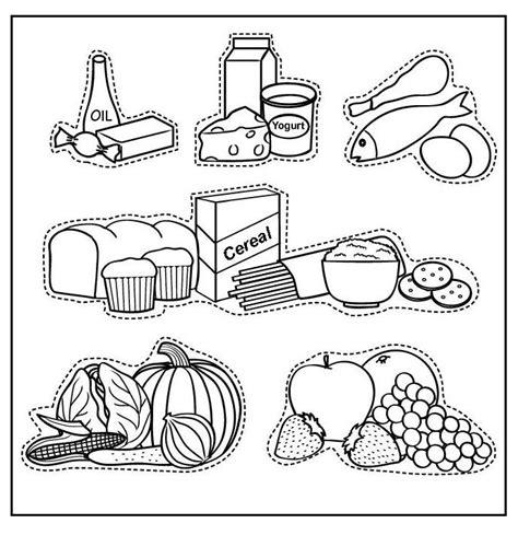 imagenes de utiles escolares para recortar imagenes de alimentos nutritivos para ni 241 os para colorear