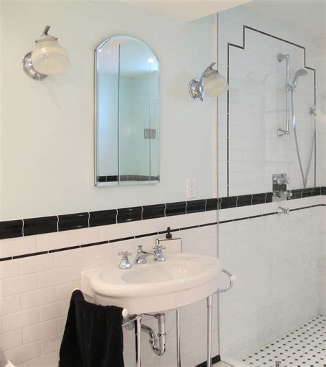 art deco bathrooms finishing touches art deco lighting big dig reno