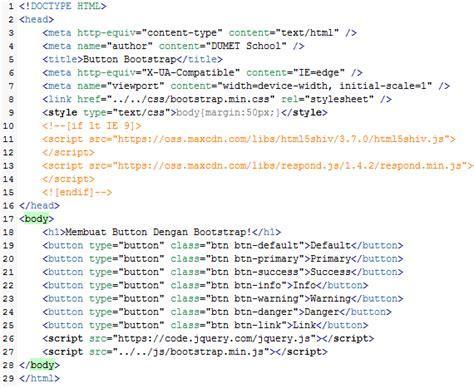 membuat artikel dengan bootstrap membuat button dengan bootstrap