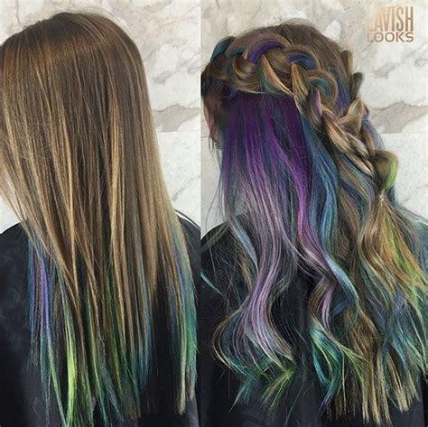 thai hair trend 2015 the 25 best peekaboo hair colors ideas on pinterest