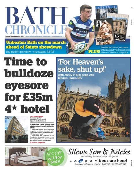 newspaper layout cost bath chronicle relaunches with cover price rise