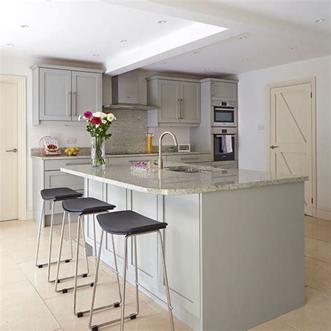 white kitchen island with breakfast bar grey kitchen with breakfast bar decorating ideal home