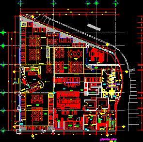 level restaurant  playground  dwg design plan