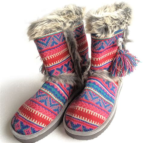 knit mukluks quot cierra quot sweater nordic knit mukluk slippers the