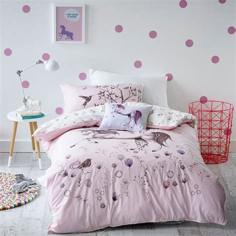 unicorn bedding for kids adairs kids girls unicorn dreaming bedlinen bedroom