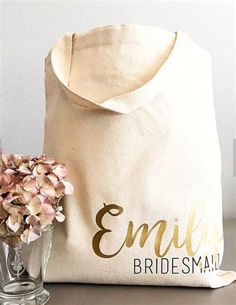 custom bridal shower gift bags 2 custom tote bags personalized bridesmaid names chagne