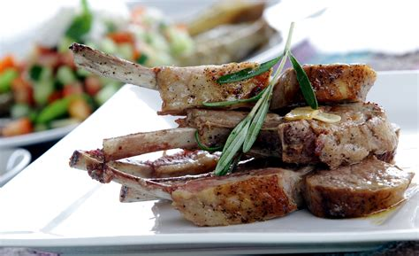 Grilled Rack Of Rosemary by Grilled Rack Of With Rosemary And Garlic Butter Sauce