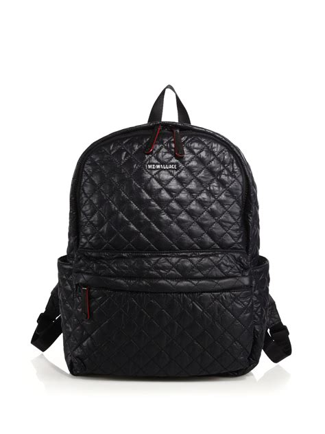 Quilted Back Pack by Mz Wallace Metro Quilted Backpack In Black Lyst