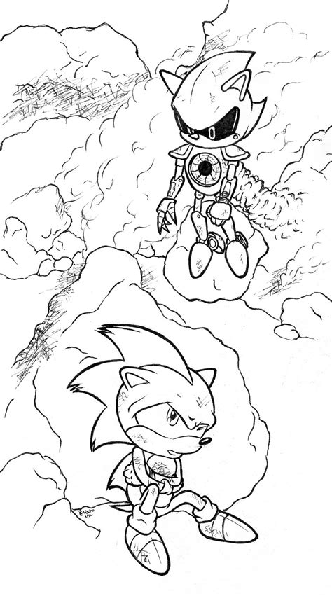 pin metal sonic coloring in printable pages on pinterest