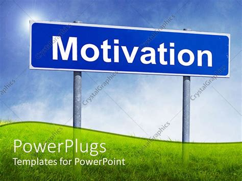 motivation templates for powerpoint free download powerpoint template a sign of motivation along with grass