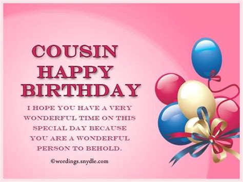 Happy Birthday To A Special Cousin by 100 Beautiful Birthday Wishes Greetings