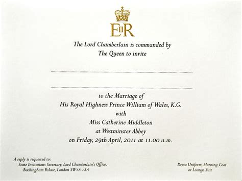 Invited To Royal Wedding