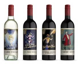 unique wine labels wine labels based on circus
