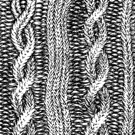 drawing knitting pattern cable knit archive of drawings designs and illustrations
