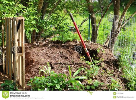 backyard compost pile backyard compost pile stock photo image of mound organic