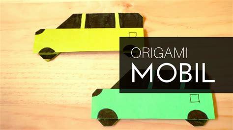membuat origami mobil keluarga  kertas lipat