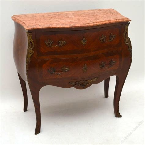 commode atlas antique kingwood marble top bombe commode