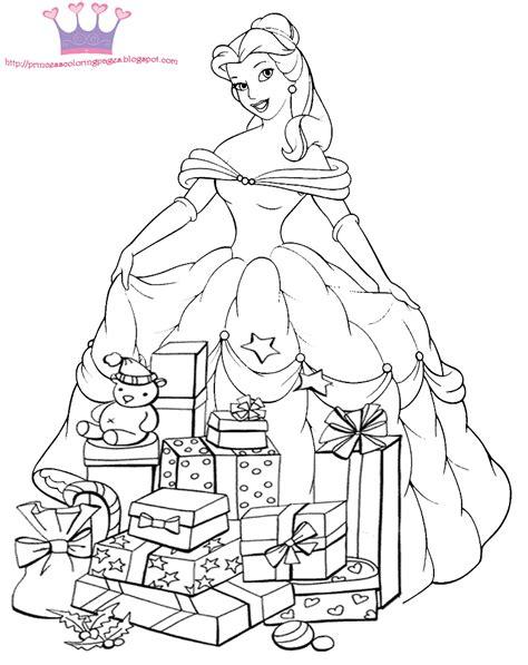 princess holiday coloring pages natale disegni da stare e colorare blogmamma it