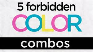 worst color combinations 5 forbidden color combinations graphic design tips from