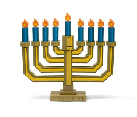 8 bit light up menorah thinkgeek