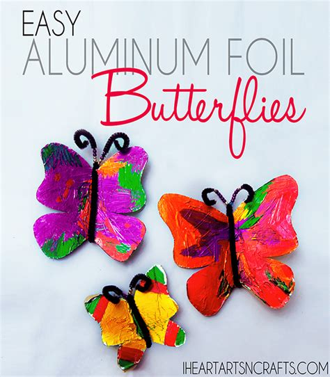 Preschool Crafts For Easy Butterfly by Easy Aluminum Foil Butterfly Craft Butterfly Crafts