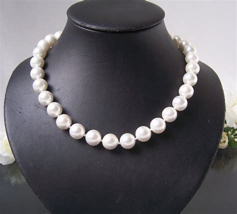Perlenkette Perlen Armband Ohrringe Muschelkernperlen by Perlenkette Perlen Armband Ohrringe Muschelkernperlen