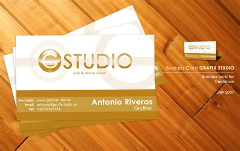business card studio grafix studio business card stationery style
