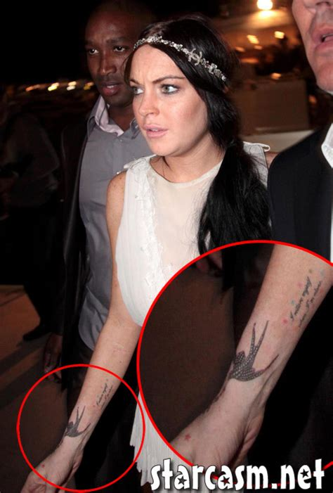 Lindsay Lohan Buys More Chanel by Lindsay Lohan S New Chanel Tattoos Are Starcasm Net