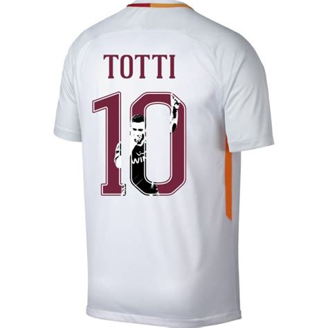 Sale Jersey As Roma Away Putih 2017 2018 Grade Ori as roma away totti jersey 2017 2018 gallery style printing