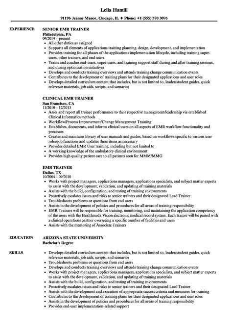 sle resumes for voice process emr resume sle 28 images sap tester cover letter emr