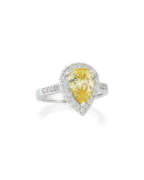 Set Bros Zircon lyst fantasia by deserio pave set pear cut cubic zirconia ring in yellow