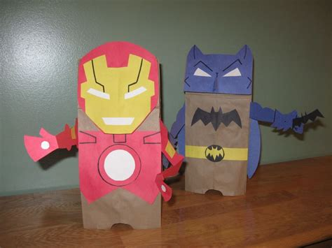 How To Make A Bag Out Of Construction Paper - iron and batman brown paper bag and construction paper