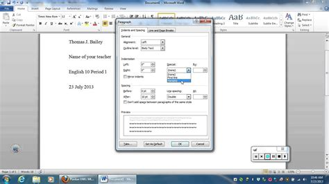 mla formatting using a built in template in pages macintosh