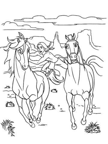 Desenhos de cavalo para colorir - imagem de animais online