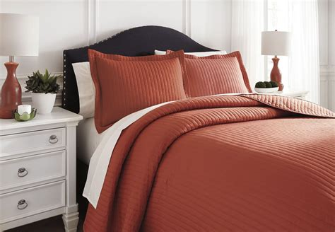 orange queen comforter set raleda orange queen comforter set from ashley q496003q