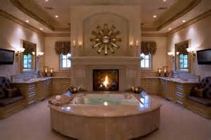 Chandelier Above Tub 51 Mesmerizing Master Bathrooms With Fireplaces