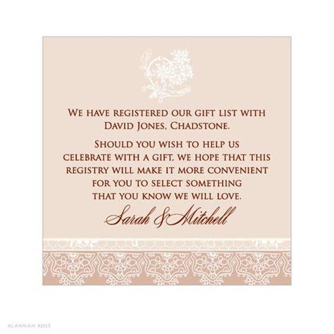 Wedding Announcement Registry by Wedding Registry Cards Wording Wedding Gallery