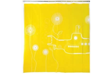 yellow submarine shower curtain yellow submarine shower curtain neatorama