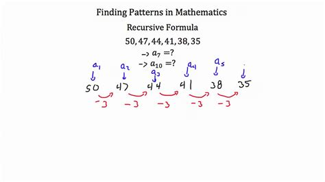 pattern formula finder series and sequences finding patterns youtube