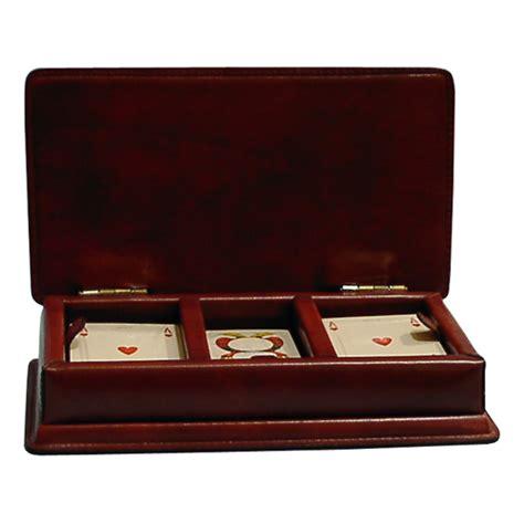 porta carte da gioco porta carte da gioco fiches quot bambule quot la bottega cuoio