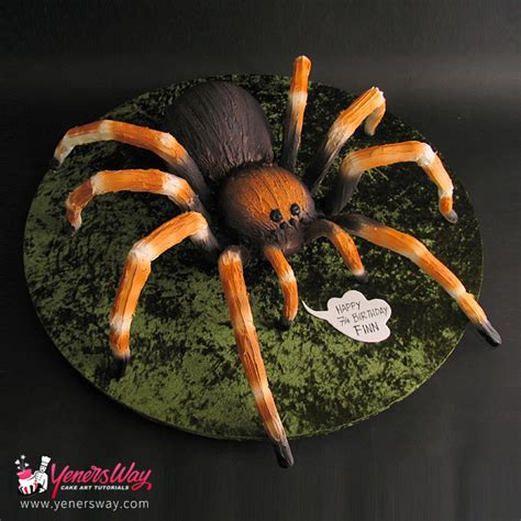 How To Make Decorations At Home by 3d Tarantula Spider Cake Yeners Way