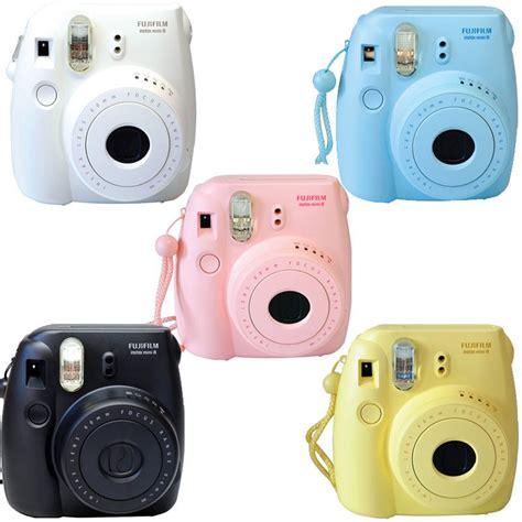 polaroid instant light blue fuji instax mini 8 fujifilm instant pink black