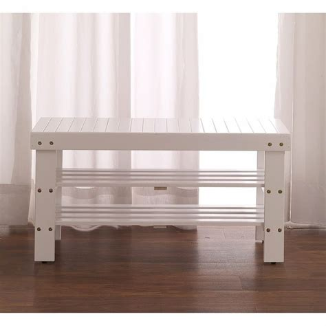 shoe bench white furnituremaxx white finish quality solid wood shoe bench