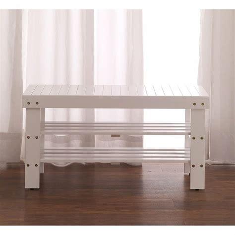 solid wood shoe storage bench furnituremaxx white finish quality solid wood shoe bench