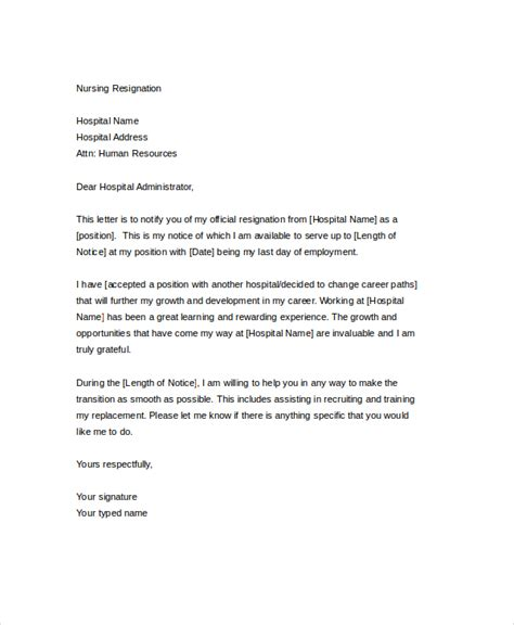 Resignation Letter For Nurses Resignation Letter 20 Free Word Pdf Documents Free Premium Templates