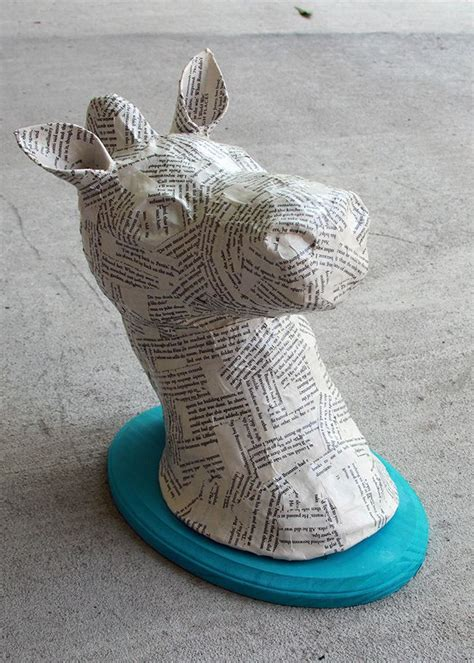 How To Make Paper Mache Heads - 25 best ideas about animal heads on animal