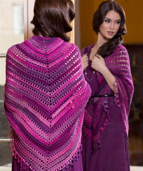 pattern red heart yarn 602 best crochet ponchos shawls images on pinterest
