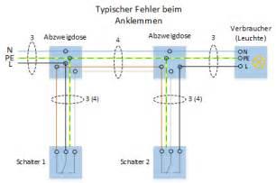 schaltplan wechselschalter mit 2 len elektroinstallation wechselschaltung