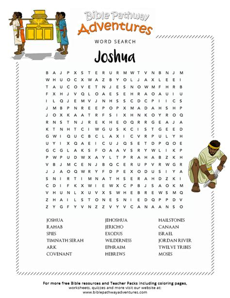 bible word search joshua and the israelites free download