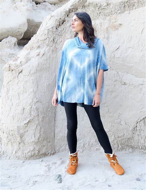 Gipsy Shibori indigo shibori block resist shirt kaftan gaia